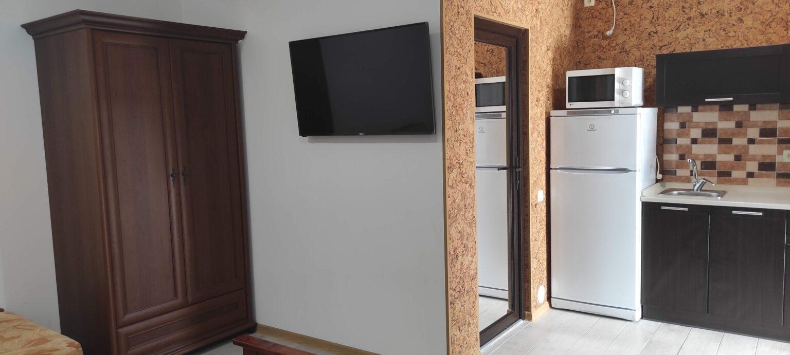 3-х местный люкс, однокомнатный. Кухня